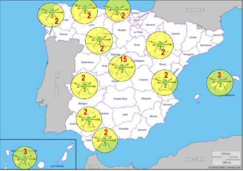 mapa de drones de la dgt